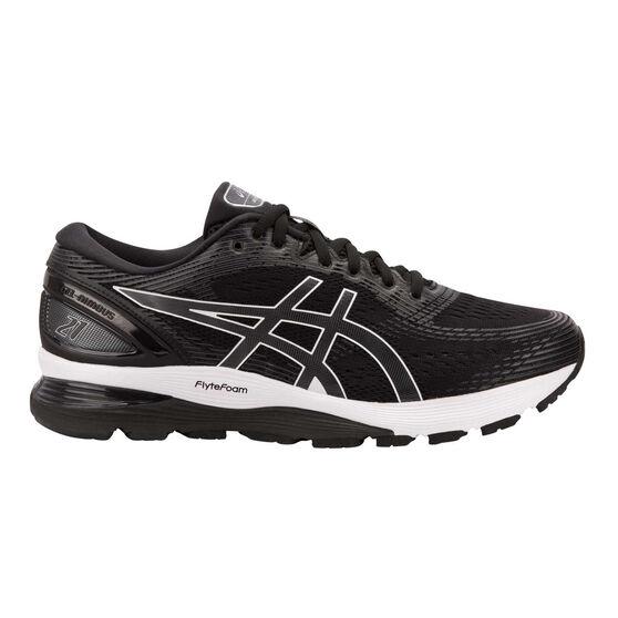 Asics GEL Nimbus 21 2E Mens Running Shoes, Black / Grey, rebel_hi-res
