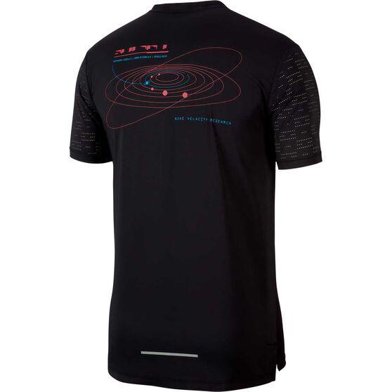 Nike Mens Rise 365 Hybrid Running Tee, Black, rebel_hi-res