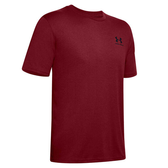 Under Armour Mens Sportstyle Left Chest Short Sleeve Tee, Red, rebel_hi-res