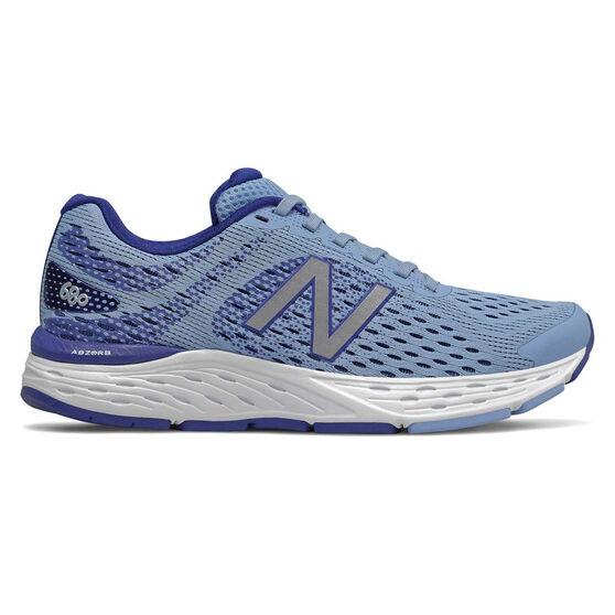 New Balance 680v6 D Womens Running Shoes, Blue, rebel_hi-res