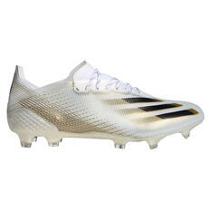 adidas X Ghosted .1 Football Boots White/Gold US Mens 7 / Womens 8, White/Gold, rebel_hi-res
