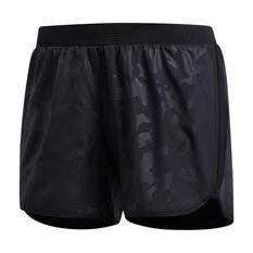 adidas Womens Marathon 20 Camo Shorts Black XS, Black, rebel_hi-res
