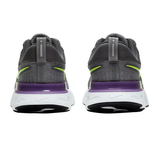 Nike React Infinity Run Flyknit 2 Mens Running Shoes, Grey/Pink, rebel_hi-res