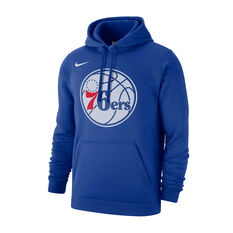 Nike Philadelphia 76ers Mens Club Logo Hoodie Blue S, Blue, rebel_hi-res
