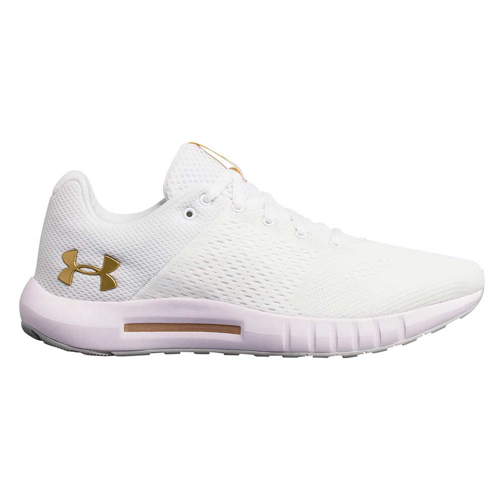 new style ab39a a0b62 Under Armour Micro G Pursuit Womens Running Shoes White US 10, White,  rebel hi-