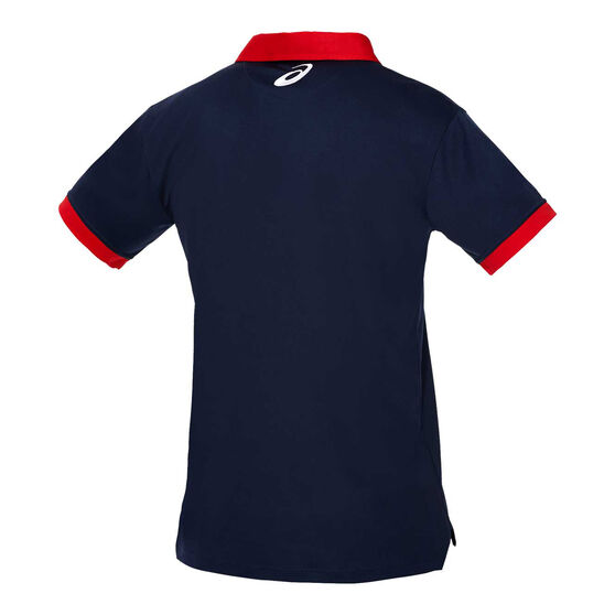 Western Bulldogs 2020 Mens Media Polo, Navy, rebel_hi-res