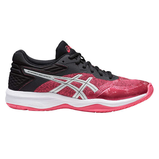 Asics Netburner Ballistic FF Womens Netball Shoes, Pink / Silver, rebel_hi-res