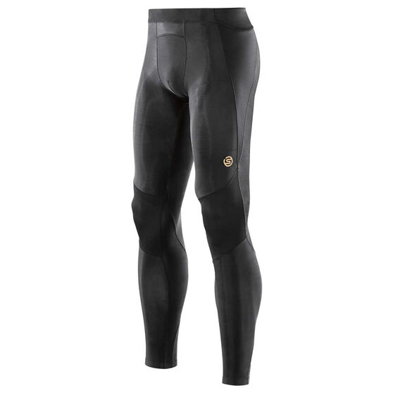 SKINS A400 Mens Compression Long Tights Black XS, Black, rebel_hi-res