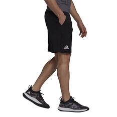 adidas Mens Ergo Tennis Shorts Black S, Black, rebel_hi-res