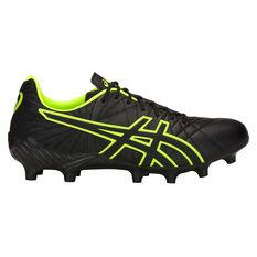 Asics Lethal Tigreor IT FF Mens Football Boots Black / Green US 8, Black / Green, rebel_hi-res