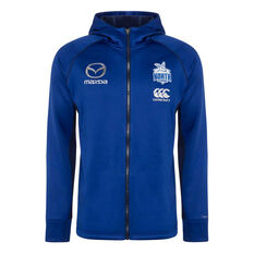 North Melbourne Kangaroos 2020 Mens Zip Through Hoodie Blue S, Blue, rebel_hi-res