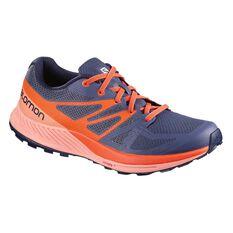 Salomon Sense Escape Womens Trail Running Shoes Purple / Coral US 9, Purple / Coral, rebel_hi-res