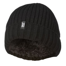 Heat Holders Mens Ribbed Turn Over Beanie, , rebel_hi-res