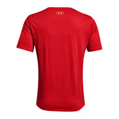 Under Armour Mens Project Rock Chinese New Year Tee Red XS, Red, rebel_hi-res