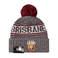 Brisbane Lions New Era 6 Dart Cuff Beanie, , rebel_hi-res