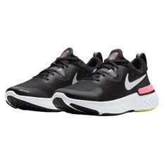 Nike React Miler Womens Running Shoes, Black/Silver, rebel_hi-res
