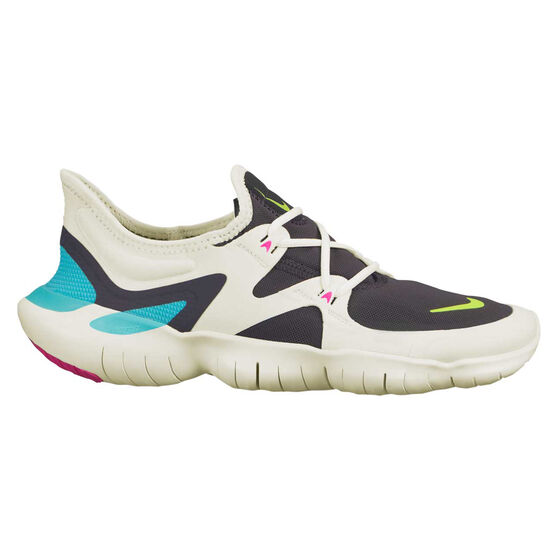 Nike Free RN 5.0 Womens Running Shoes, White / Volt, rebel_hi-res