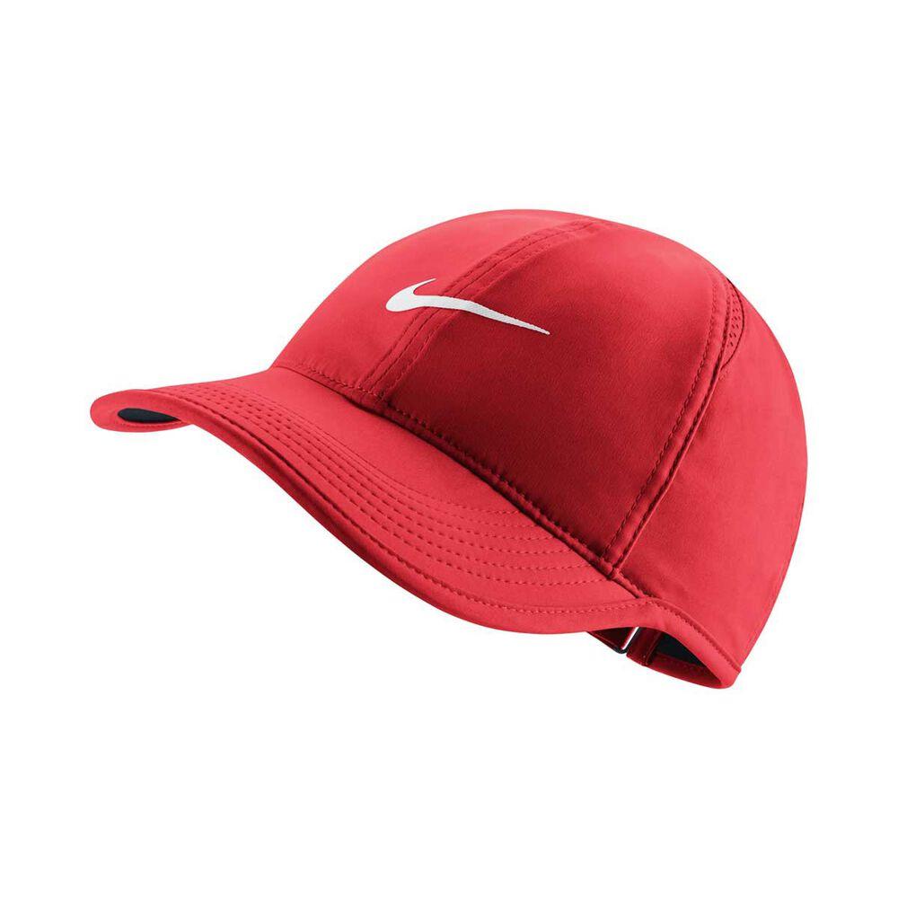 Nike Womens Aerobill Featherlight Cap Red   White OSFA Adult  125487e4c3a