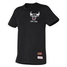 Chicago Bulls Mens Retro Repeat Tee Grey S, , rebel_hi-res