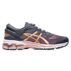 Asics GEL Kayano 26 Womens Running Shoes Grey / Pink US 6, , rebel_hi-res