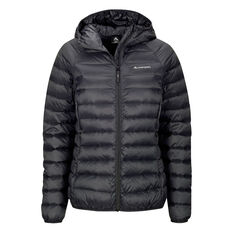 Macpac Womens Uber Light Hooded Down Jacket Black 8, Black, rebel_hi-res
