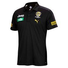 Richmond Tigers 2021 Mens Team Polo Black S, Black, rebel_hi-res