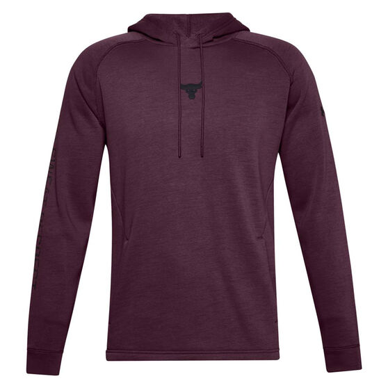 Under Armour Mens Project Rock Charged Cotton Hoodie, Purple, rebel_hi-res