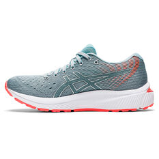 Asics GEL Cumulus 22 D Womens Running Shoes Grey/Silver US 6, Grey/Silver, rebel_hi-res
