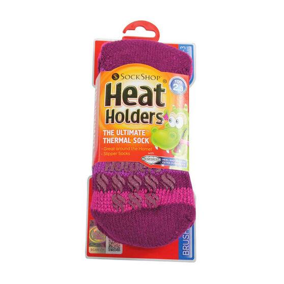 Heat Holders Kids Thermal Non Slip Socks, , rebel_hi-res