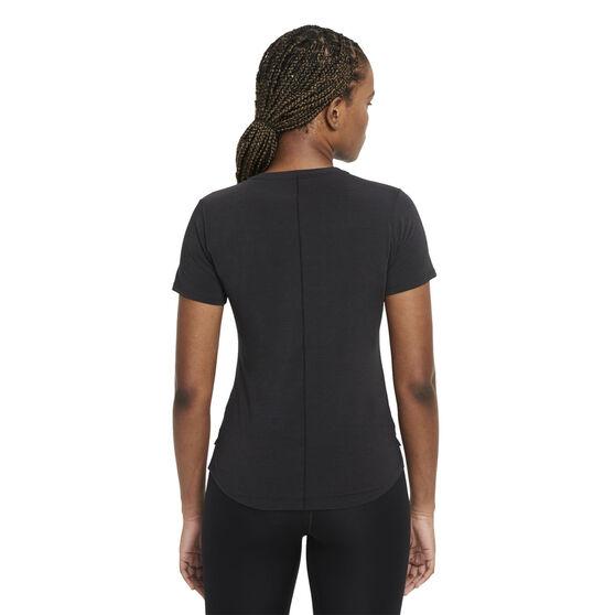 Nike Womens Dri-FIT One Luxe Standard Tee, Black, rebel_hi-res