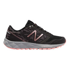 New Balance 590T Womens Trail Running Shoes Black US 6, Black, rebel_hi-res