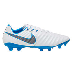 Nike Tiempo Legend VII Pro Mens Football Boots White / Grey US 7, White / Grey, rebel_hi-res