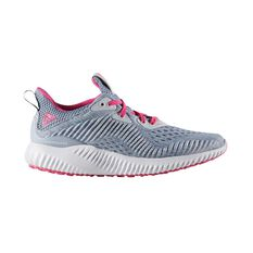 adidas Alphabounce EM Kids Running Shoes Grey / Pink US 4, Grey / Pink, rebel_hi-res
