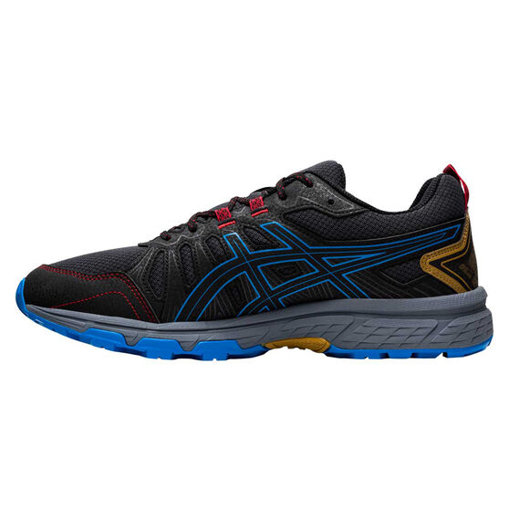 Asics GEL Venture 7 Mens Trail Running Shoes Grey/Blue US 13, Grey/Blue, rebel_hi-res