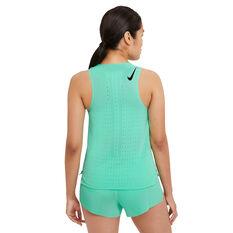 Nike Womens AeroSwift Running Tank Green XS, Green, rebel_hi-res