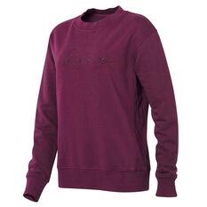Ell & Voo Womens Savannah Crew Sweatshirt Purple XXS, Purple, rebel_hi-res