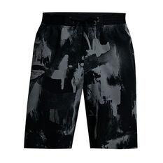 Under Armour Mens Reign Woven Shorts Black S, Black, rebel_hi-res