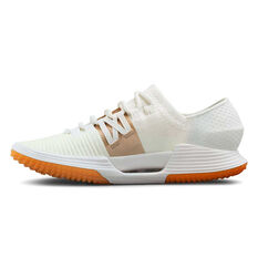 Under Armour SpeedForm AMP 3.0 Womens Training Shoes White / Gold US 6, White / Gold, rebel_hi-res