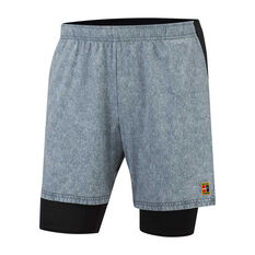 Nike Mens Court Flex Ace 9in Shorts Grey XS, Grey, rebel_hi-res