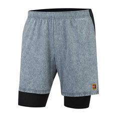 ce38190f87a Nike Mens Court Flex Ace 9in Shorts Grey S, Grey, rebel_hi-res