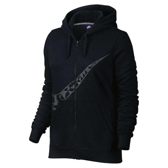 4402e522914c Nike Womens Sportswear Graphic Hoodie Black   Grey XS Adult