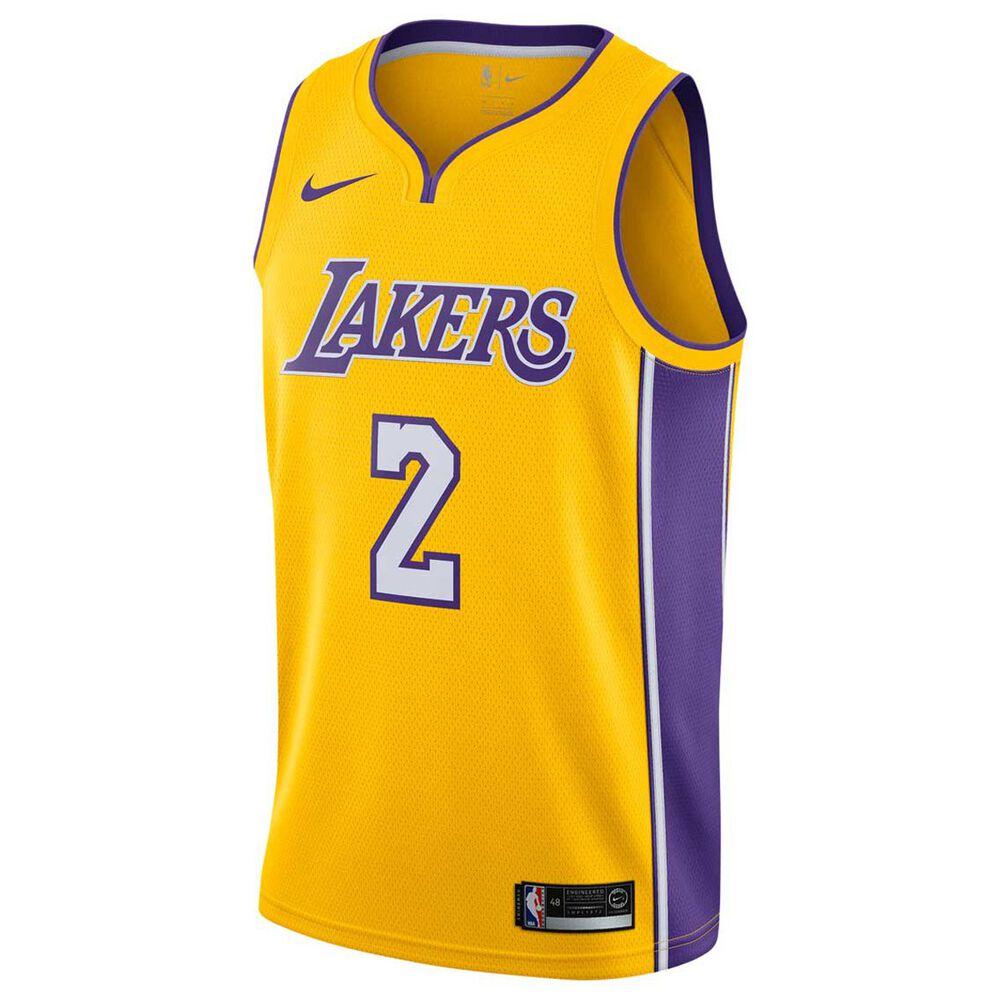 Nike Los Angeles Lakers Lonzo Ball 2018 Mens Swingman Jersey Amarillo    Field Purple S 849a55491