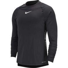 Nike Pro Mens AeroAdapt Long-Sleeve Top Black S, Black, rebel_hi-res