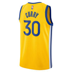 Jordan Golden State Warriors Stephen Curry 2020/21 Mens Statement Edition Swingman Jersey, Yellow, rebel_hi-res