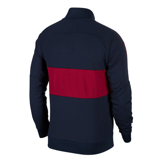 FC Barcelona 2019 Mens 196 Icon Jacket Navy / Red XL, Navy / Red, rebel_hi-res