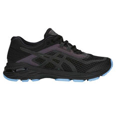 Asics GT 2000 6 Lite Show Womens Running Shoes Black / Black US 6, Black / Black, rebel_hi-res
