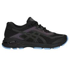 Asics GT 2000 6 Lite Show Womens Running Shoes Black / Black US 6, Black / Black, rebel_hi-res