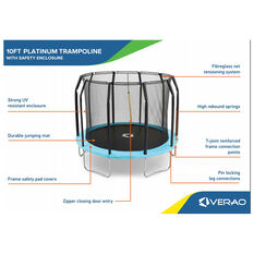 Verao Platinum 2.0 10ft Trampoline, , rebel_hi-res