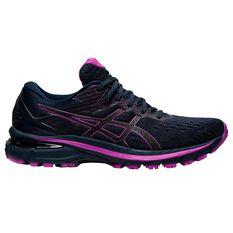 Asics GT 2000 9 Lite Show Womens Running Shoes, Black/Pink, rebel_hi-res
