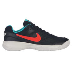 Nike Court Lite Mens Tennis Shoes Black / Blue US 7, Black / Blue, rebel_hi-res